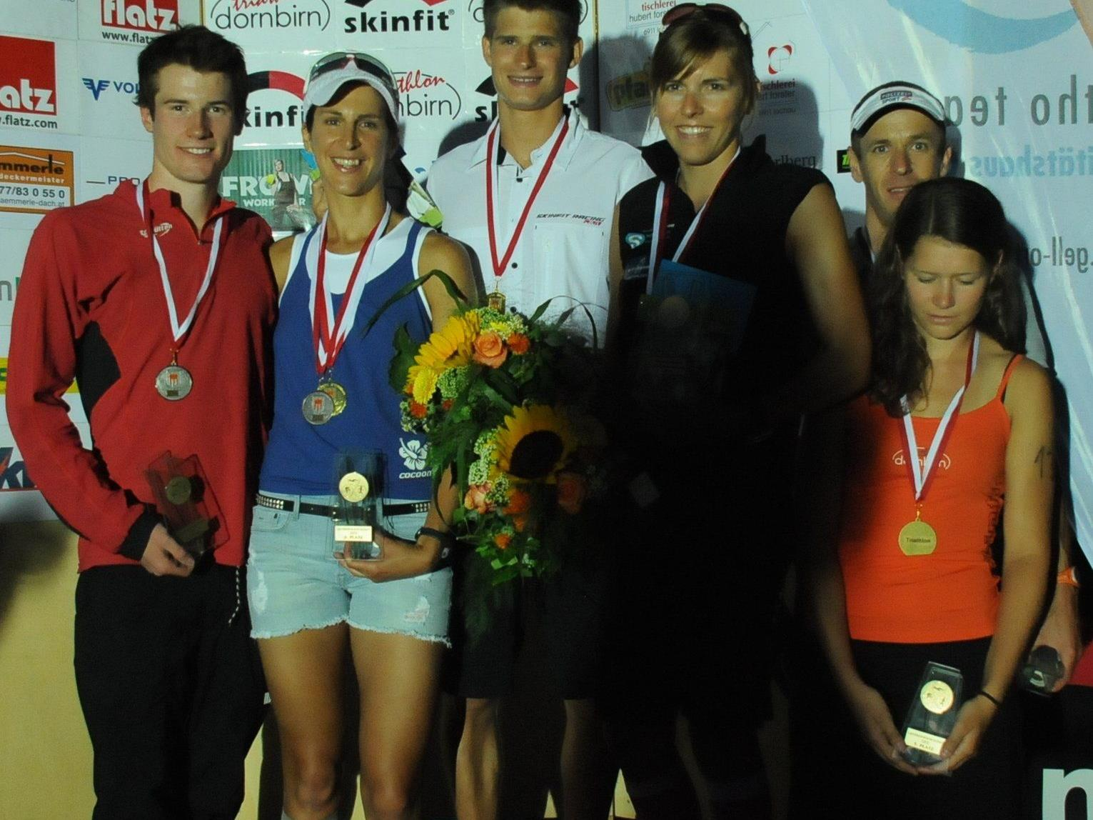 Schwarzenbergerin Bianca Steurer und der Dornbirner Paul Reitmayr sind neue Sprint-Landesmeister.