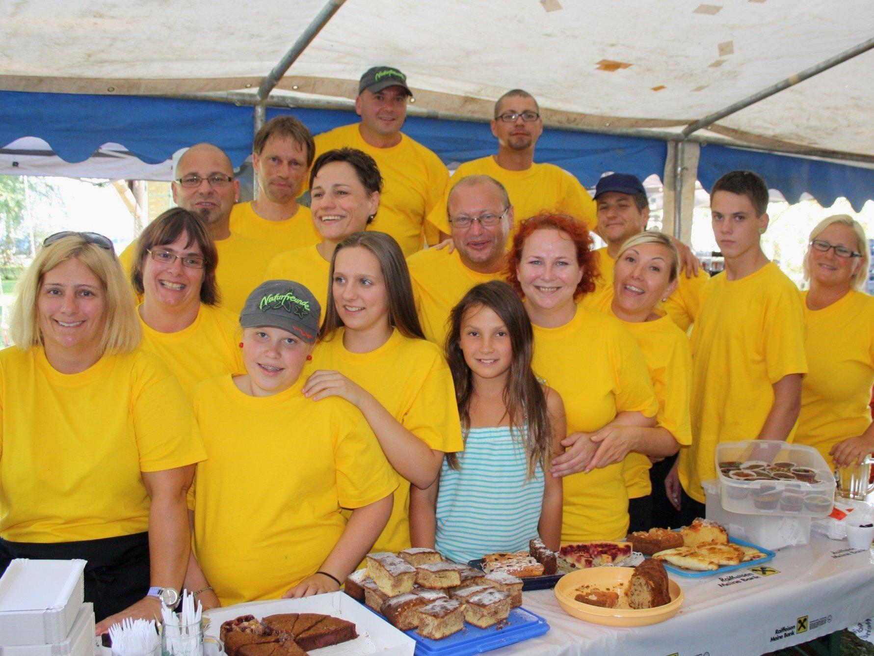 Das engagierte Team um Obmann Alexander Woger im erfolgreichen Einsatz für ein bestens gelungenes Sommerfest.