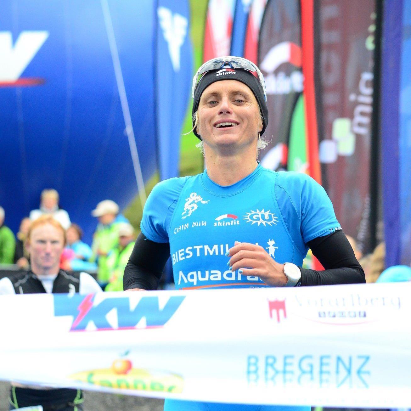 Die Siegerin des Trans Vorarlberg 2012 Yvonne Van Vlerken.