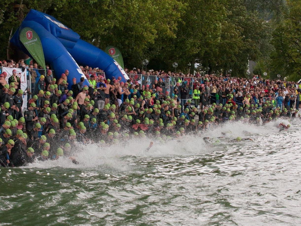 Mehr als 500 Starter sorgen beim Trans Vorarlberg Triathlon für einen neuen Rekord.
