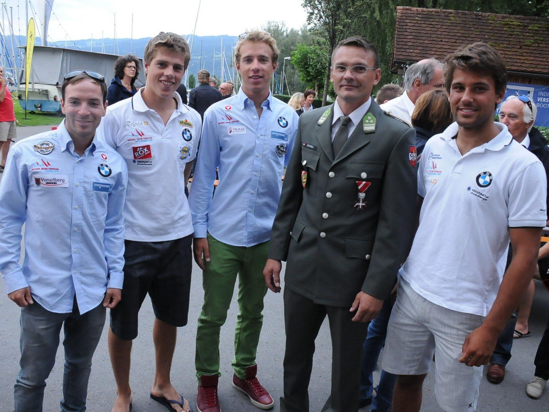 Von links nach rechts: David Bargehr, Benjamin Bildstein, Lukas Mähr, Daniel Devigili und David Huss.
