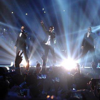Zum ersten Mal seit zehn Jahren gemeinsam auf der Bühne: 'N Sync.