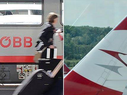 Eine Kooperation zwischen ÖBB und AUA ist geplant.