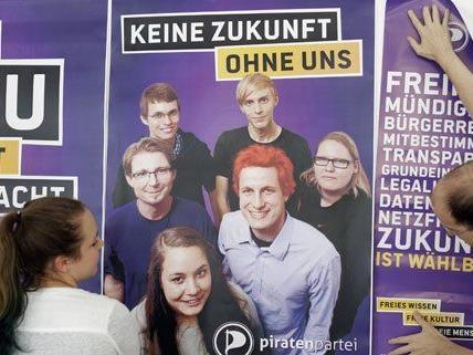 Die Piratenpartei führt ihren Wahlkampf mit kleinem Budget.