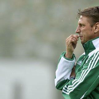 Der rapid-Trainer gibt sich selbstbewusst vor dem Spiel in Salzburg.