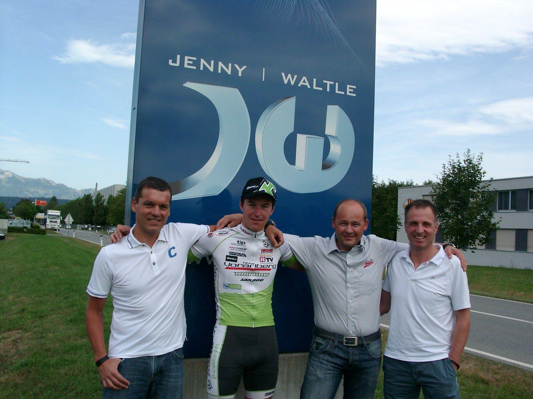 Mit der Firma Jenny und Waltle in Frastanz konnte das Radteam Vorarlberg einen neuen Sponsor an Land ziehen.