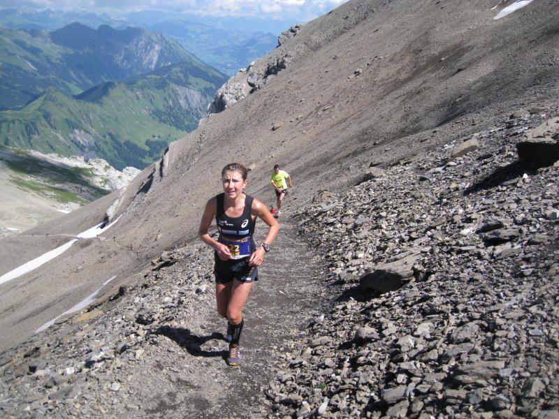 Die Dornbirnerin Sabine Reiner wurde beim Berglauf in Gstaad ausgezeichnete Zweite.
