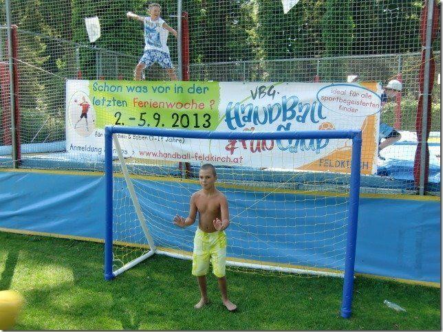 Die Feldkircher Handballer waren auf Promotion Tour im Waldbad.