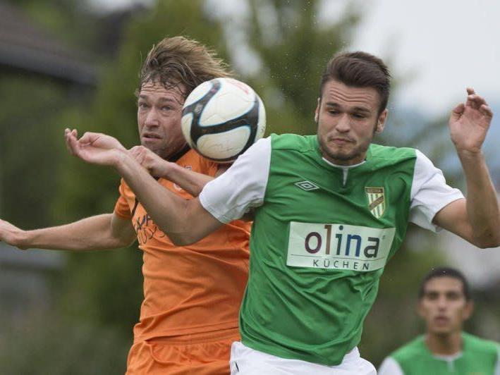 Bizau gewann das Vorarlbergliga-Duell bei den Lustenau Amateuren knapp mit 1:0.