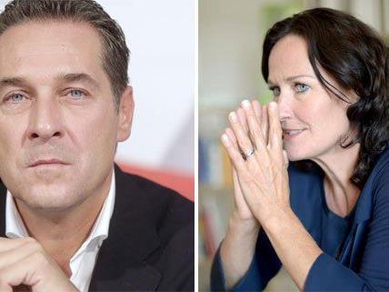 Strache und Glawischnig treffen am Donnerstag im ORF aufeinander.