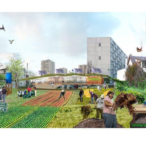 "Atelier d'architecture autogérée (Frankreich) gewann 2012 in der Kategorie ""Forschung & Initiative"" mit dem Projekt ""R-URBAN"" in Paris."