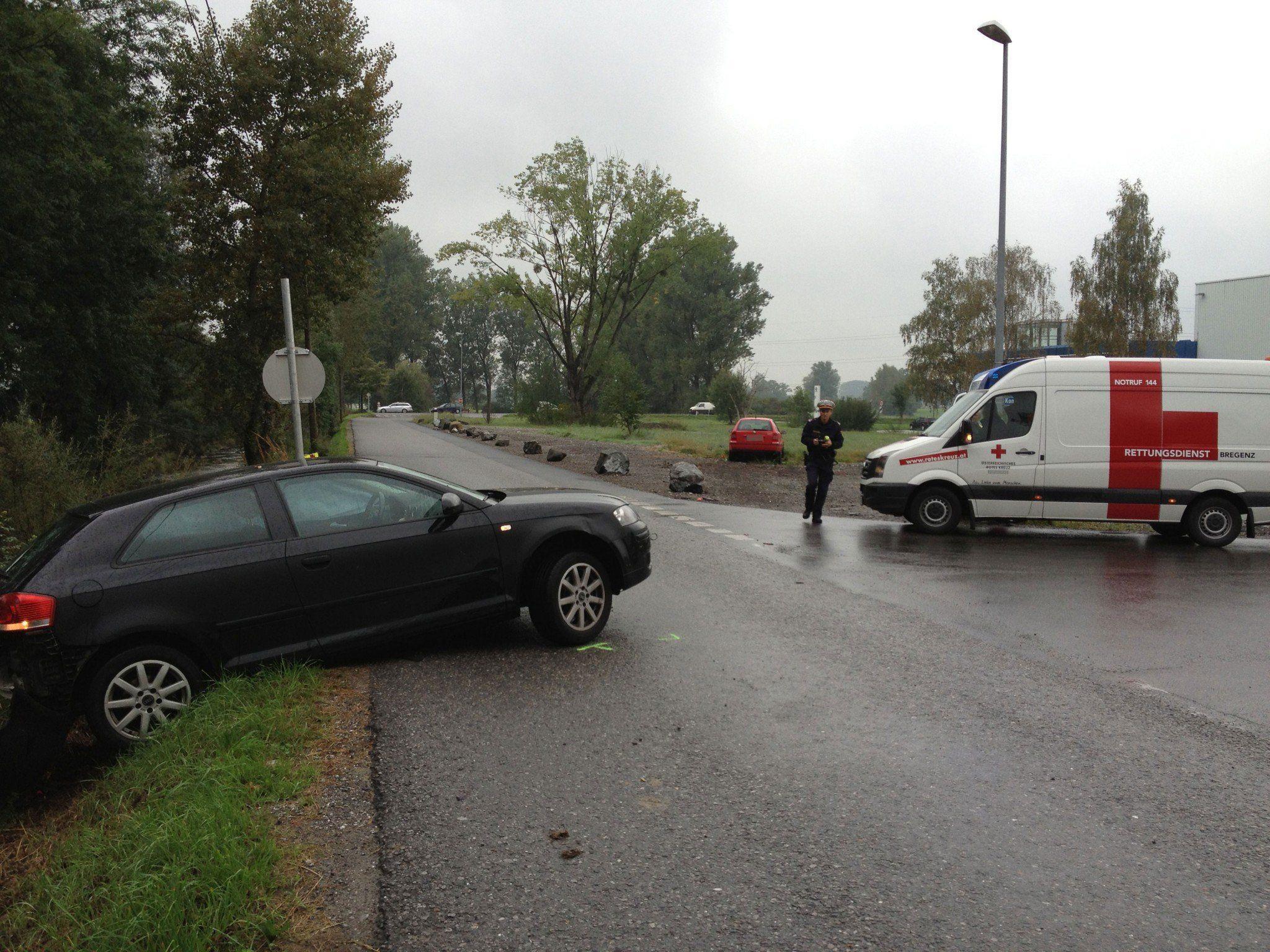 Verkehrsunfall in Wolfurt: drei Frauen leicht verletzt.