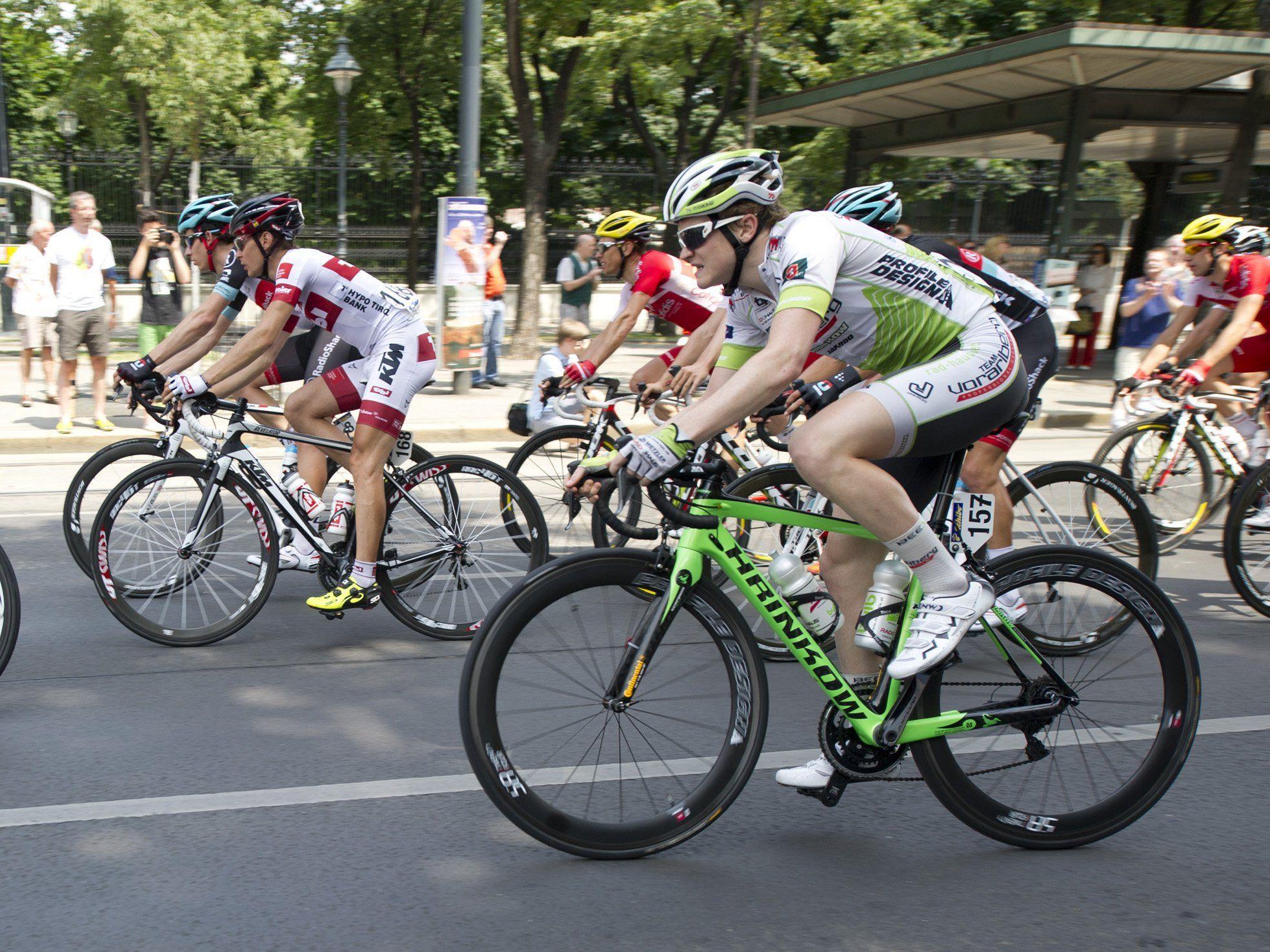 Dominik Hrinkow wurde im Dress vom Radteam Vorarlberg beim Rennen in Kroatien sensatioenll Zweiter.