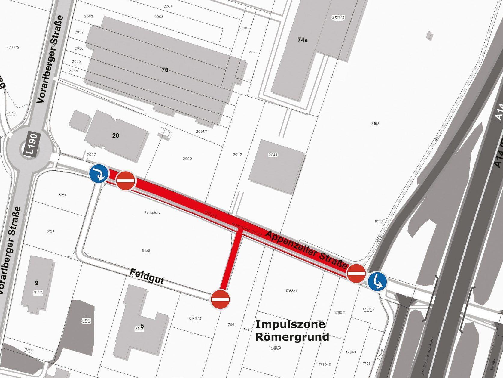"""Betriebe """"Im Feldgut"""" sind von der Bundesstraße L190 aus erreichbar."""