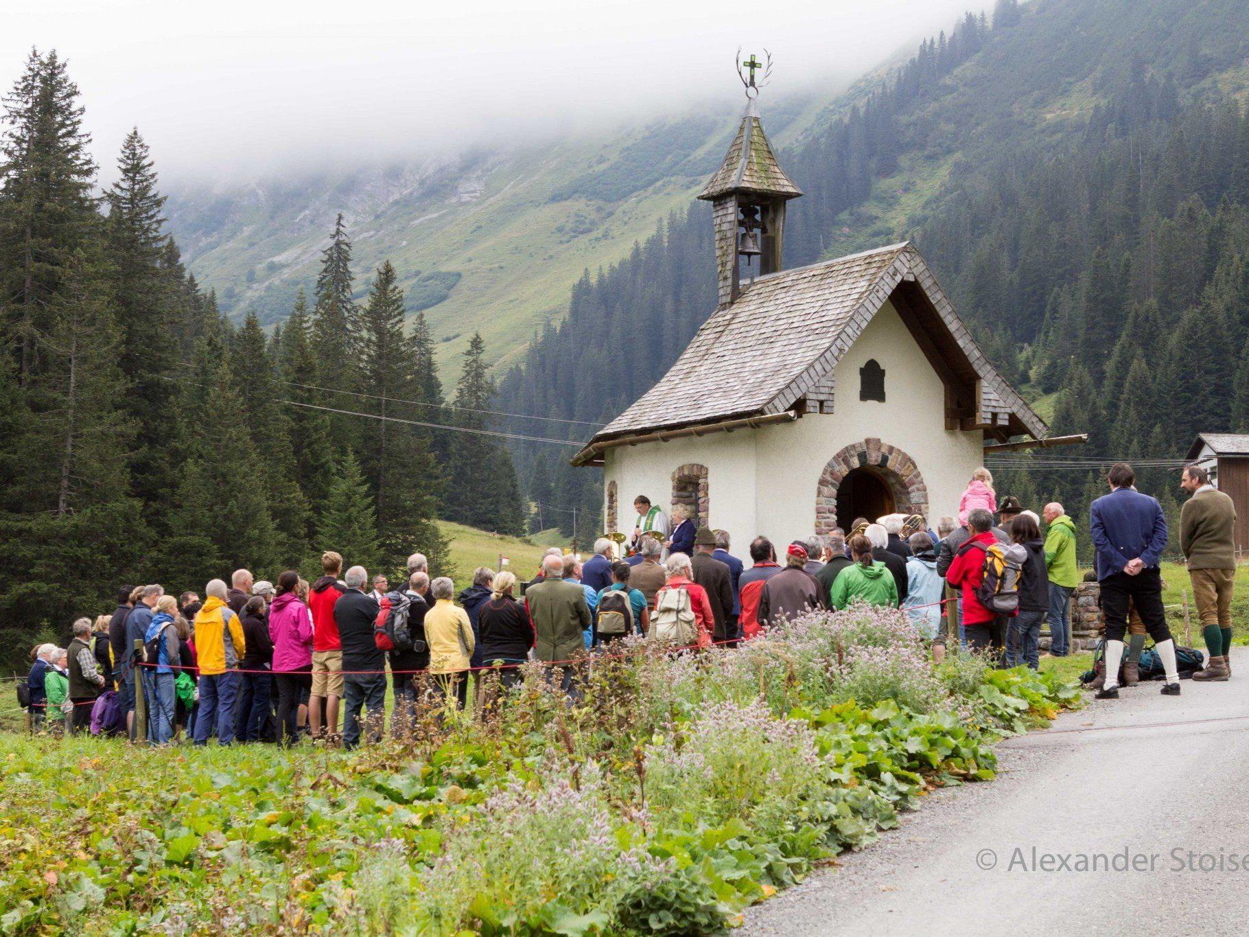 Die Hubertusmesse im Rellstal hatte heuer leider nicht so viele Besucher wie in anderen Jahren, war aber sehr feierlich.