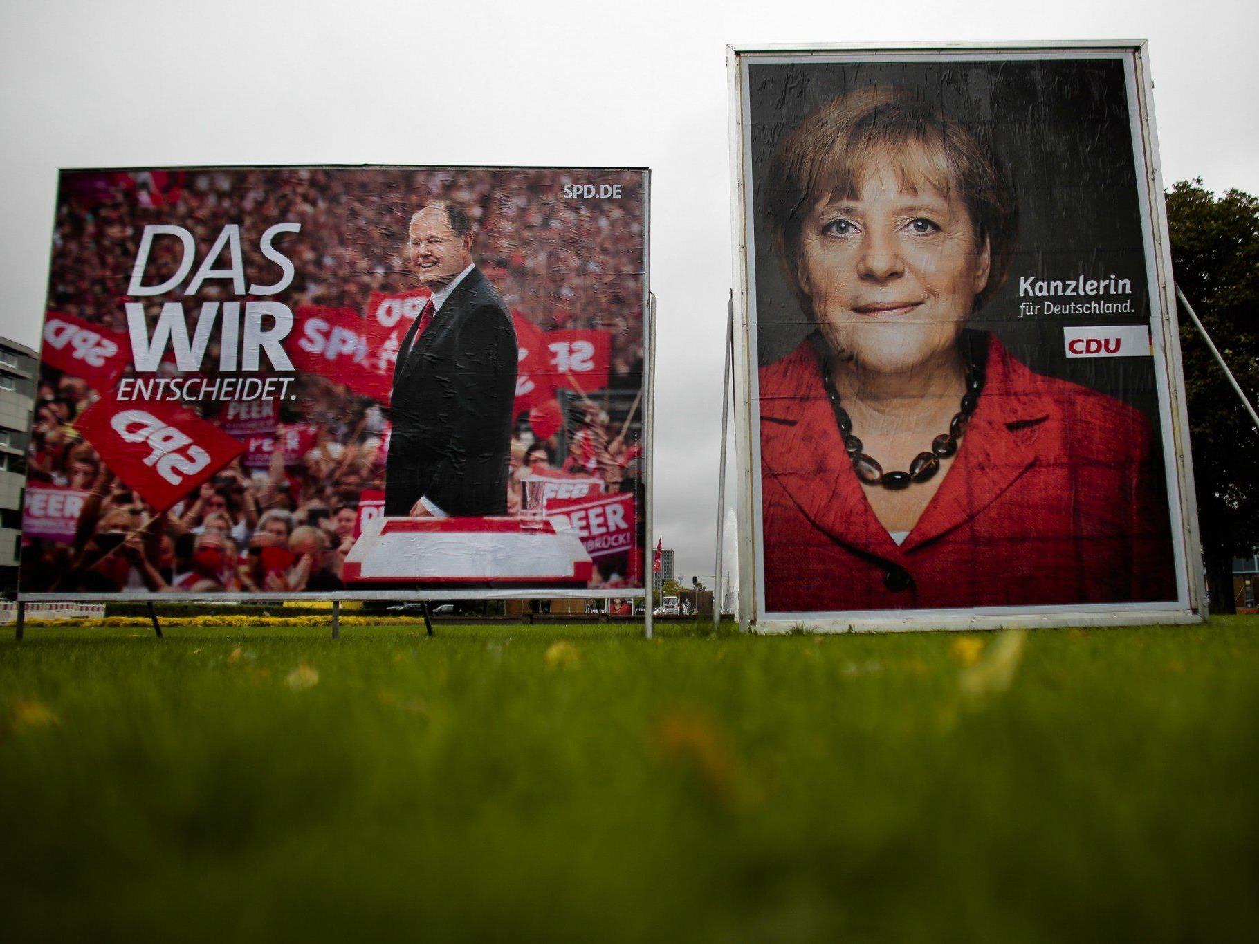 Laut Umfragen geht sich für die derzeitige Koaliation CSU-FDP nach der Wahl keine Mehrheit mehr aus.
