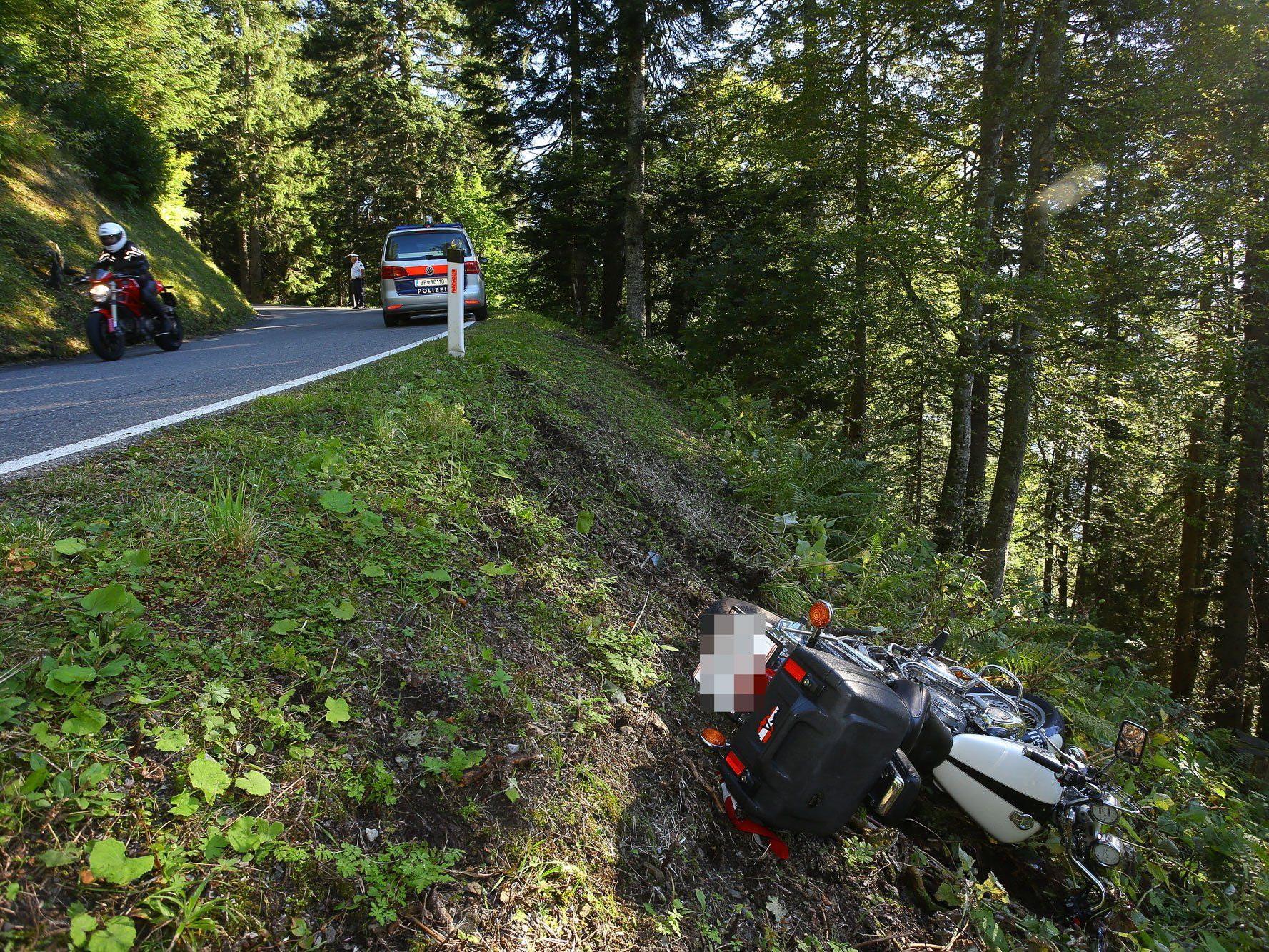 Motorradunfall in Laterns: 62-jähriger Harder leicht verletzt.