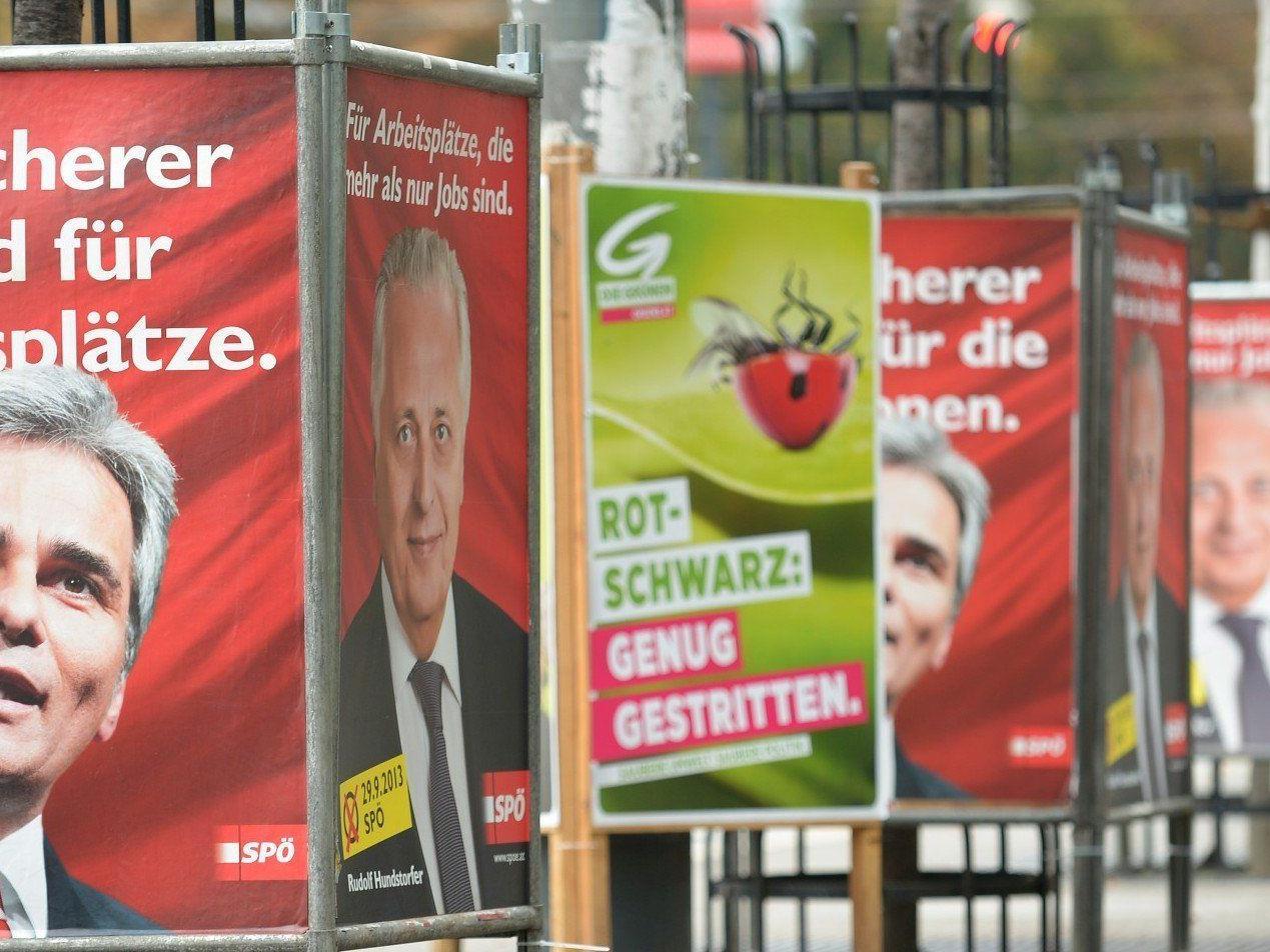 Welcher Partei würden Sie derzeit ihre Stimme bei der Nationalratswahl 2013 geben?