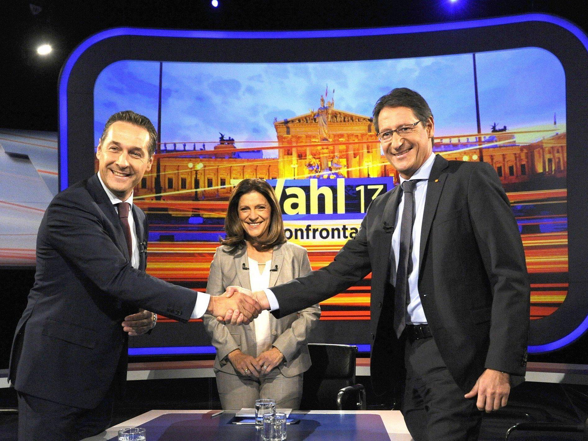 Brüderliches TV-Duell mit Strache und Bucher