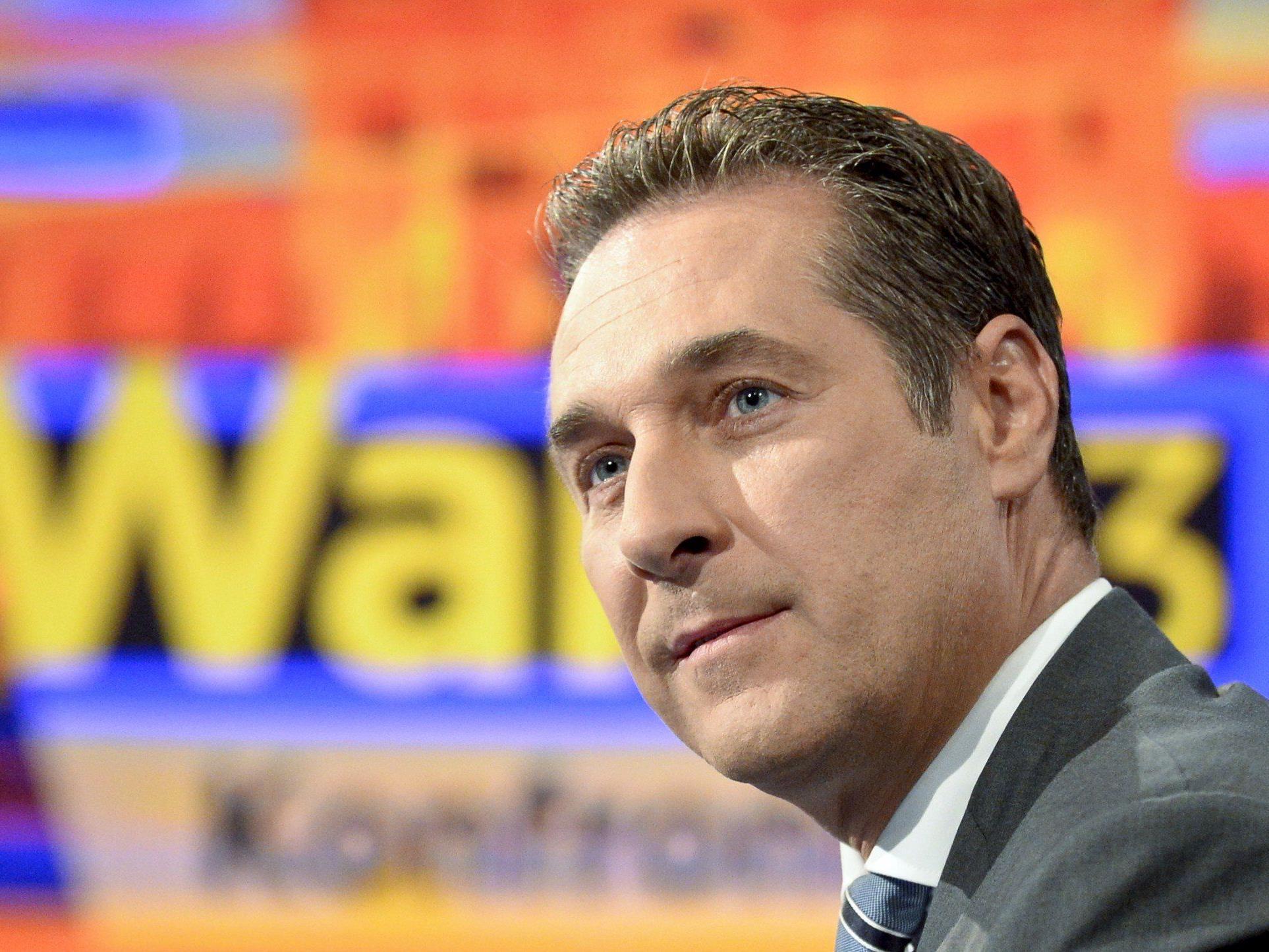 Heinz-Christian Strache war zu Gast bei der PULS 4 News Wahlarena.