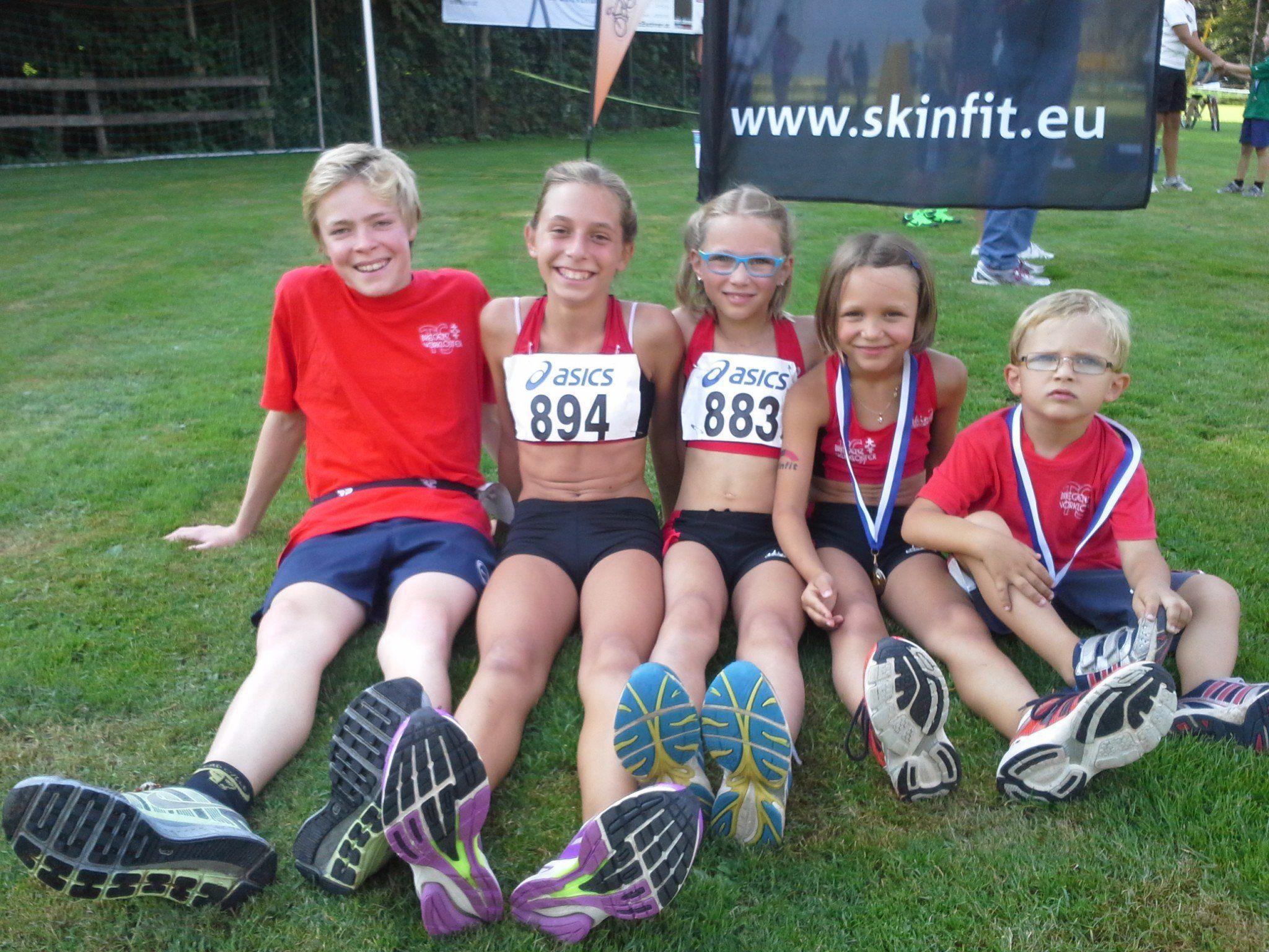 Die Läufer der TS Bregenz-Vorkloster beim Bucher Dorflauf