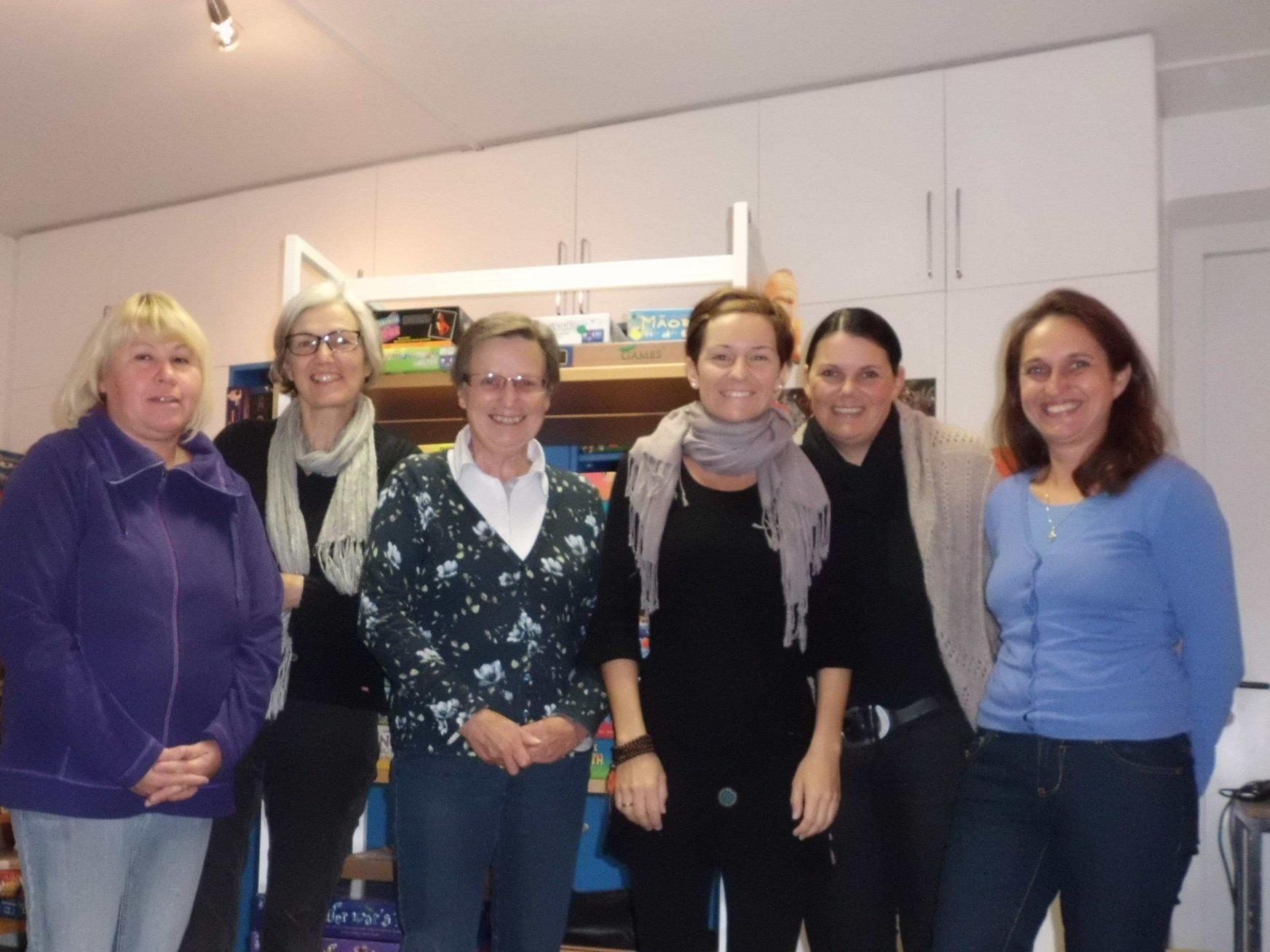 Das Team der Bücherei (es fehlt Monika Aßmann)