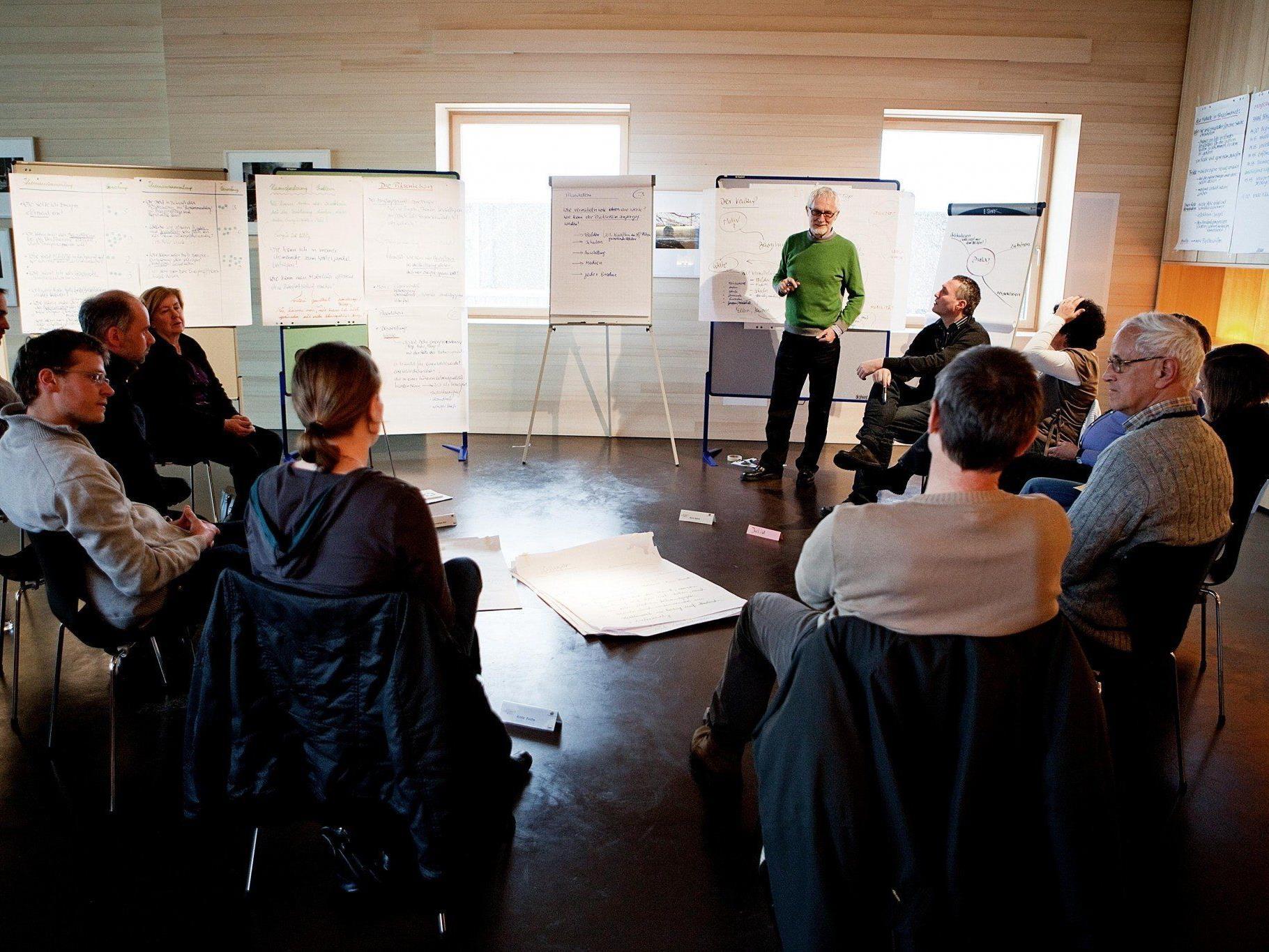 Beim Bürger-Café werden die Ergebnisse des ersten Bürger-Rates der Regio Vorderland-Feldkirch öffentlich vorgestellt.