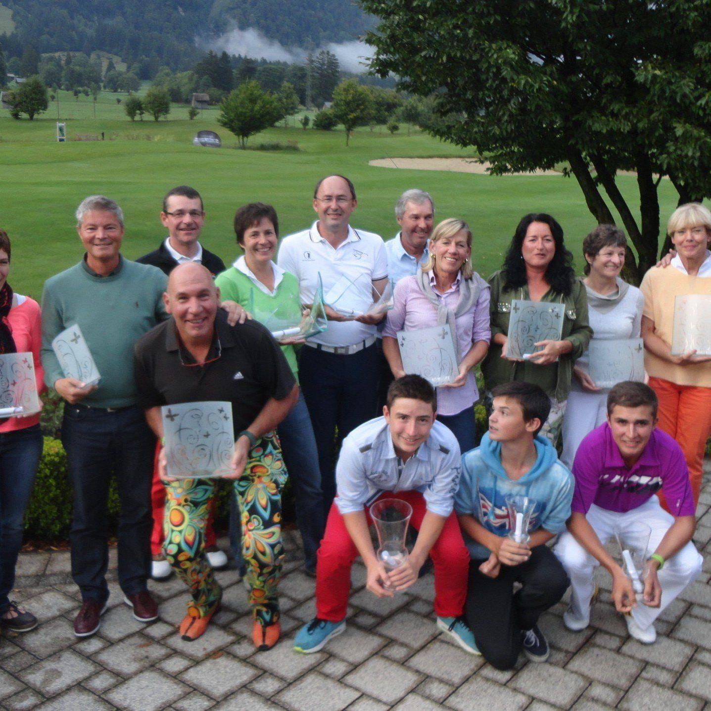 Die Sieger von den vereinseigenen Meisterschaften des GC Bludenz/Braz