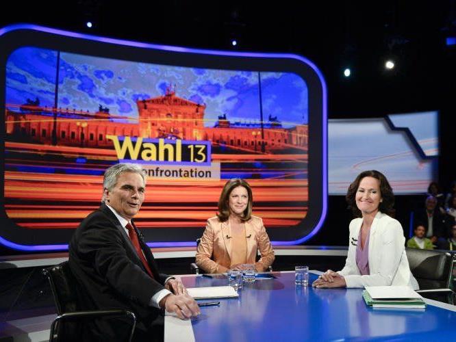 Kanzler Werner Faymann (SPÖ) und die Grüne Eva Glawischnig im Duell.