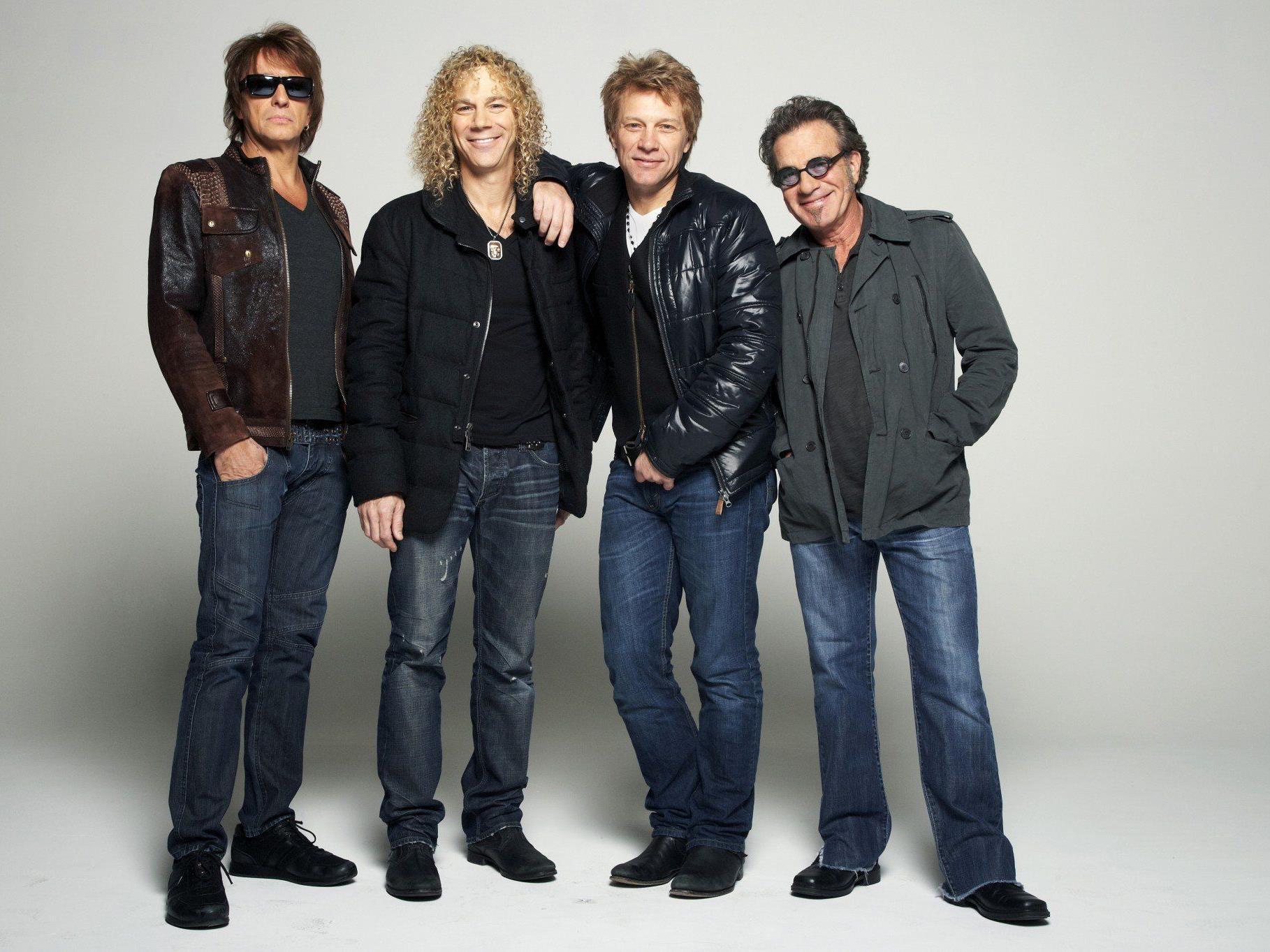 Richie Sambora, David Bryan, Jon Bon Jovi und Tico Torres.