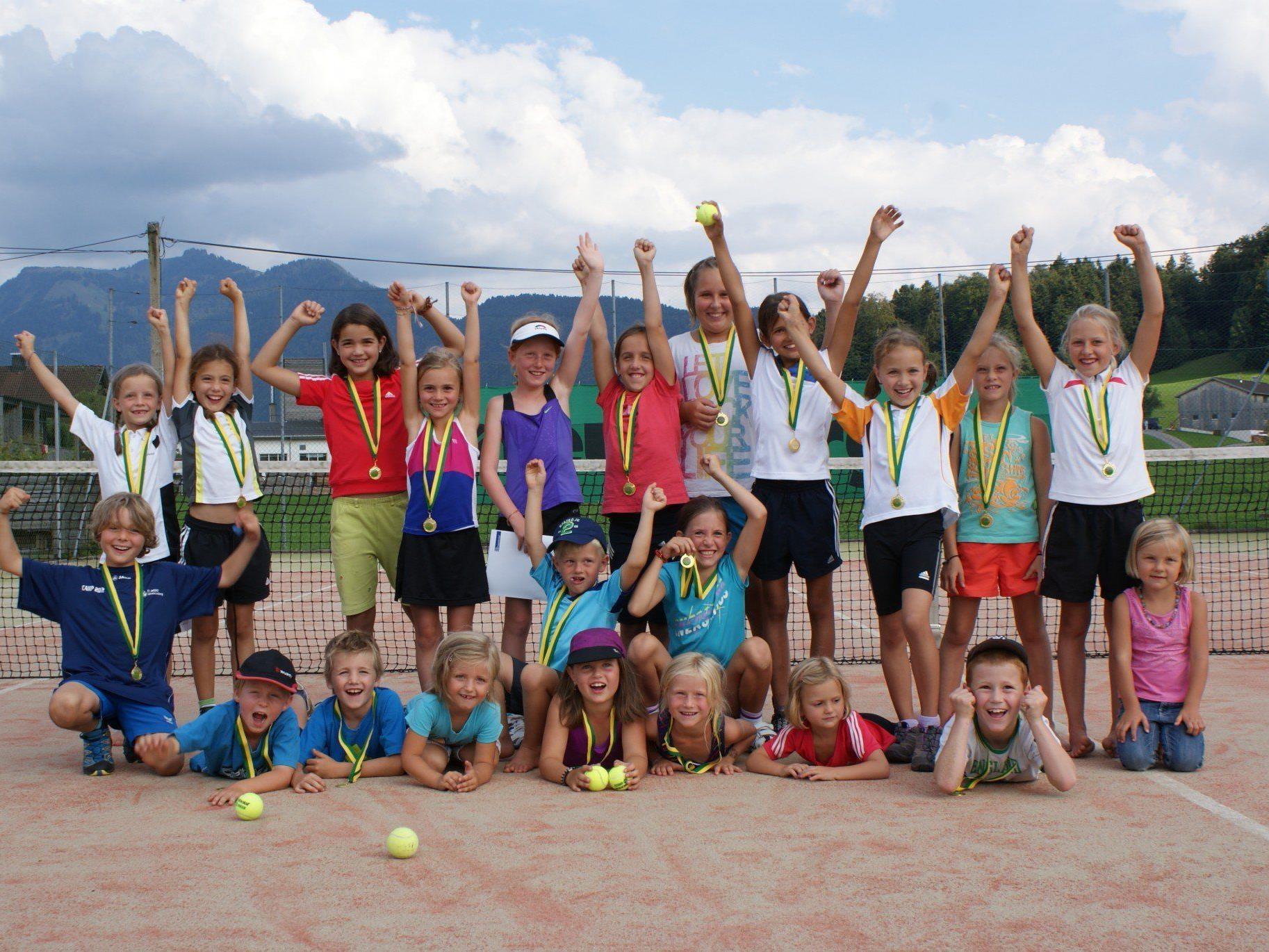 Die Teilnehmer des Sommertrainings