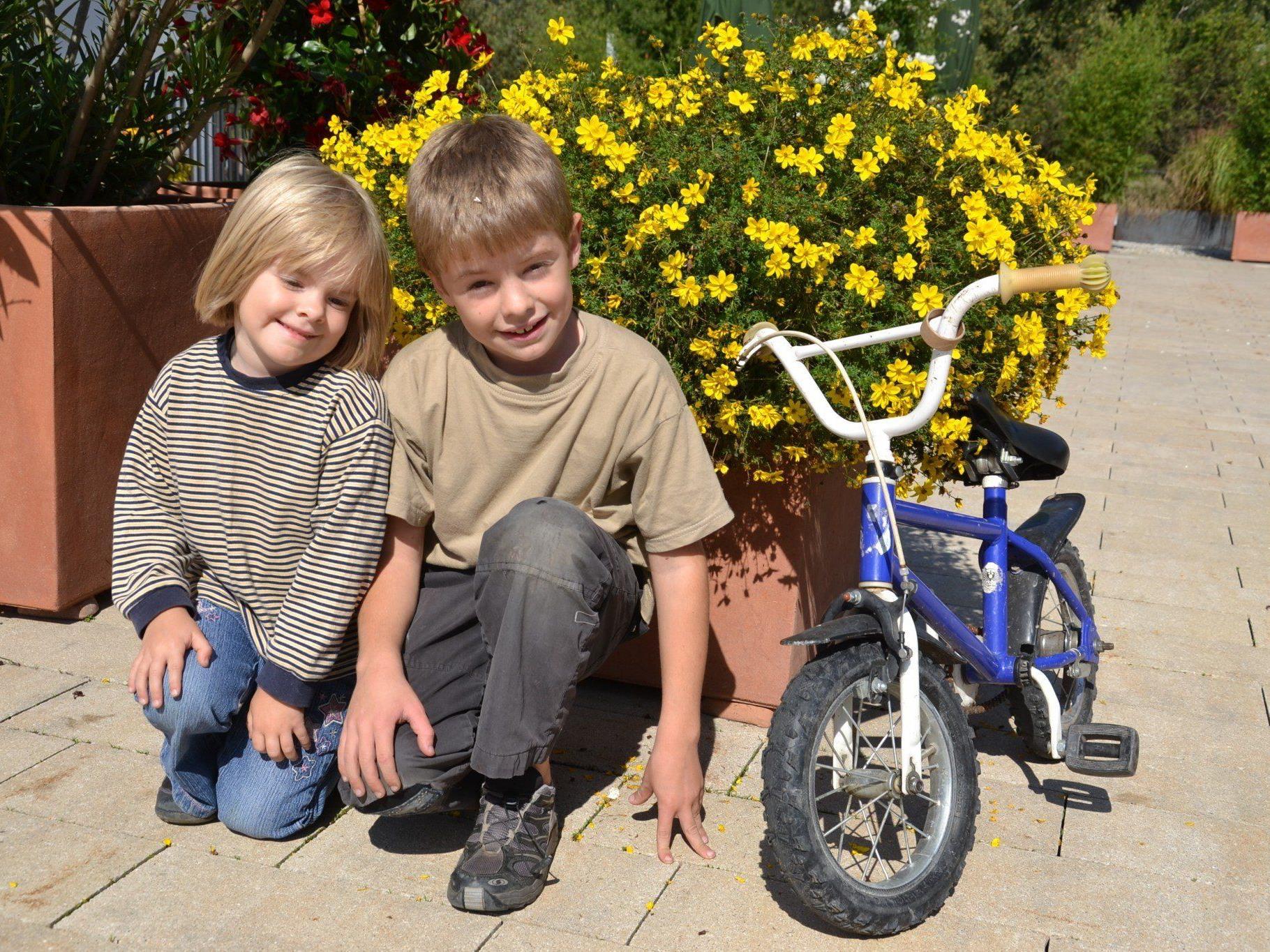 Auch Ines & Lukas aus Koblach waren am Samstag mit dem Fahrrad unterwegs...