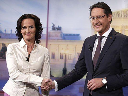 Diese beiden sind sich nicht ganz grün: Eva Glawischnig und Josef Bucher