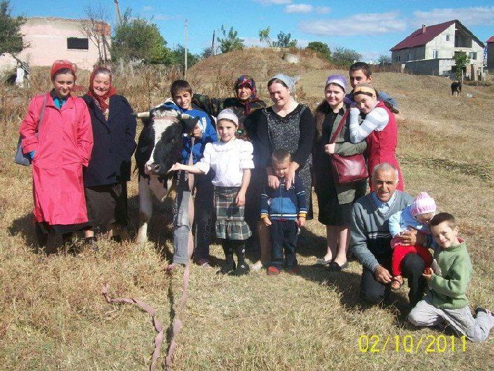 Die Familie Dobrojan erhielt Ziegen