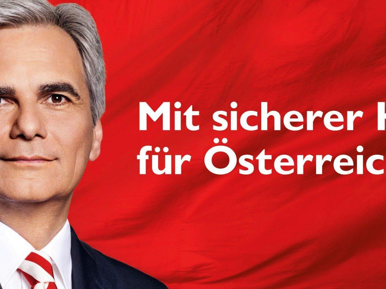 Eines der SPÖ-Plakate um die sich die Vorwürfe drehen.