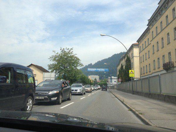 Stau-Bilder aus Bregenz.