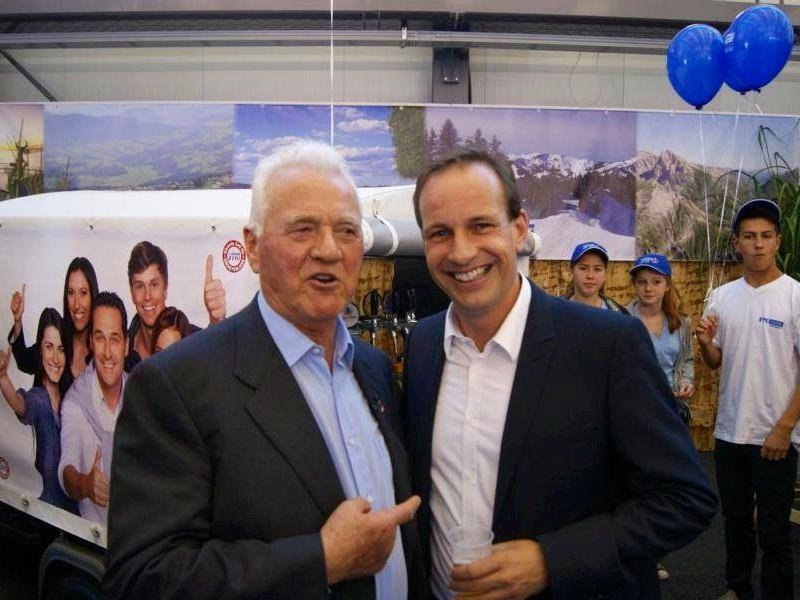 Frank Stronach und Dieter Egger: Zukünftige Koalitionspartner?