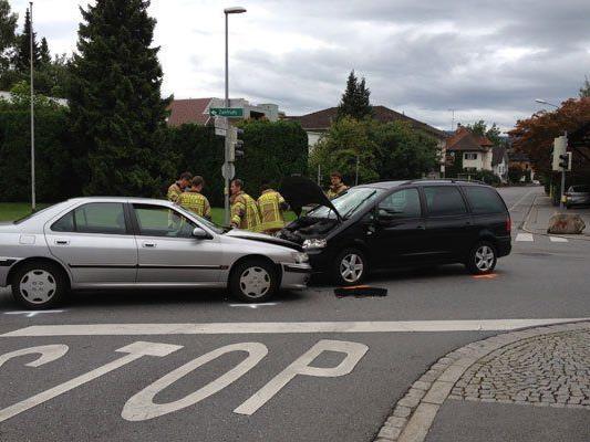 Verletzte bei Unfall in Lustenau.