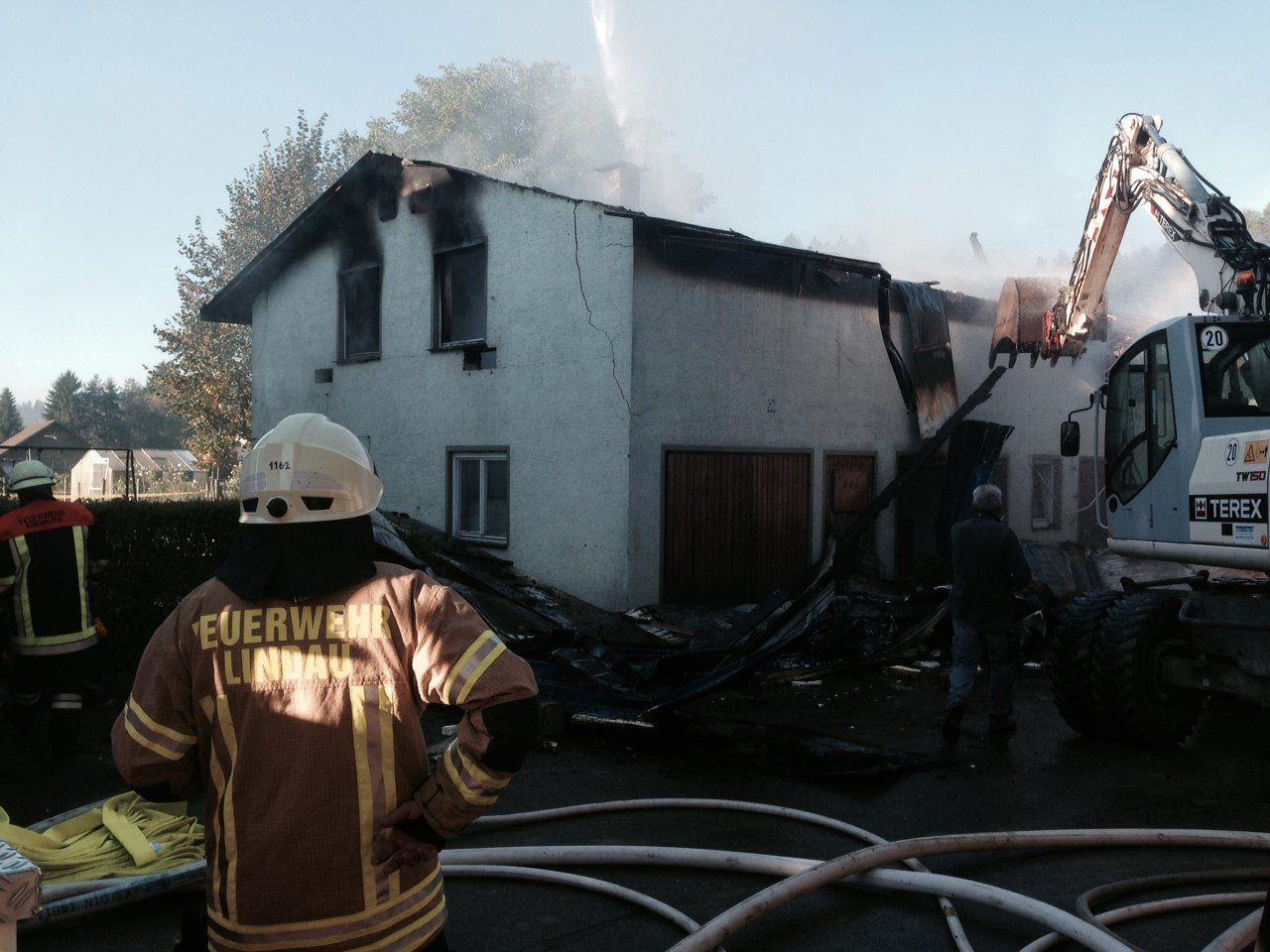 Die Feuerwehr konnte ein Ausbreiten der Flammen verhindern.