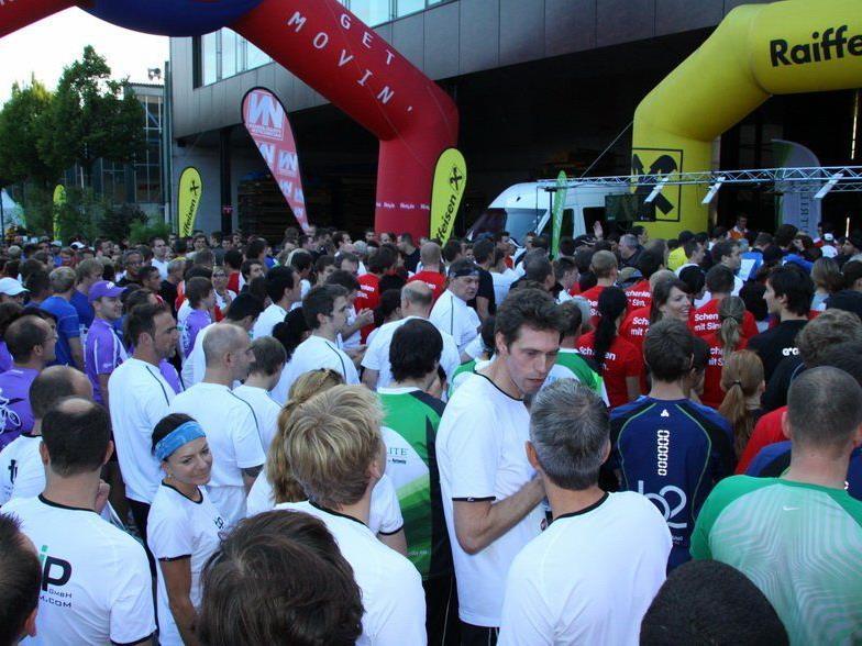 Riesenstimmung und eine Megaparty beim dritten Vorarlberger Firmenlauf im Messegelände.