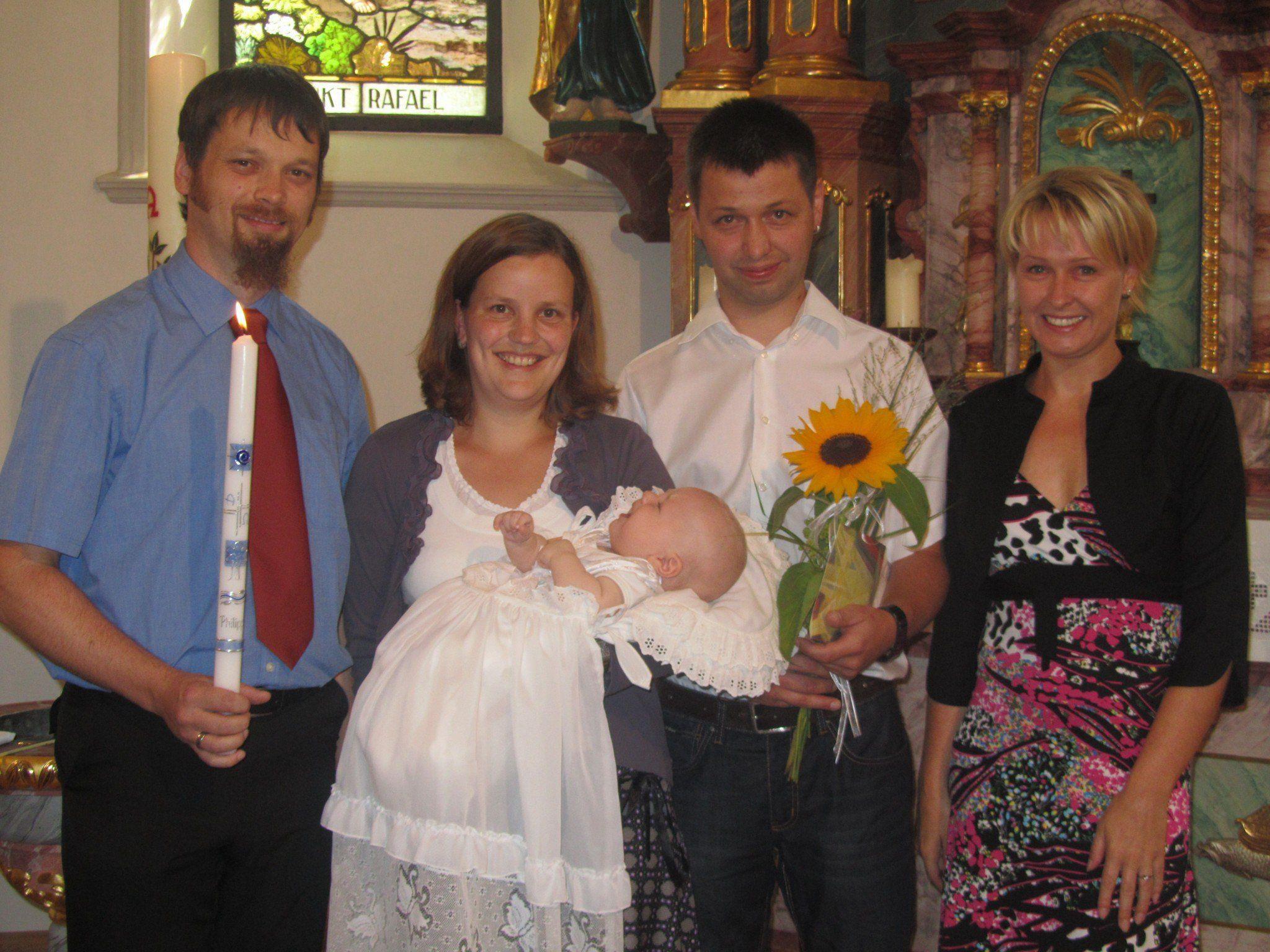 Taufe von Phillip Schwarzgruber aus Partenen.