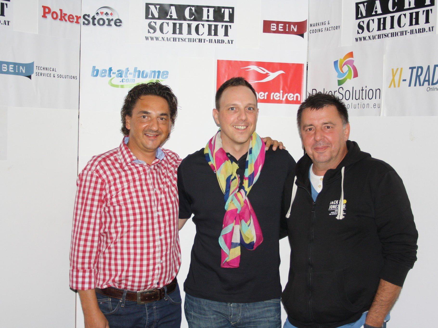 Das Siegerfoto (v.l.n.r.): Harald Mangeng, Hanno Hollenstein und Klaus Bobner