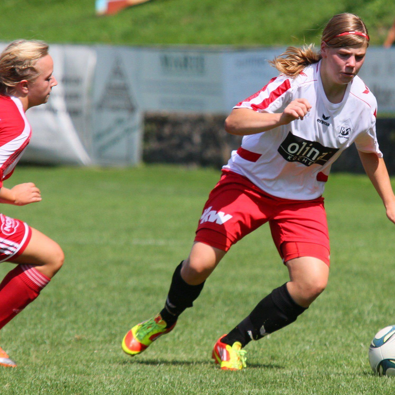 Rankweil-Torjägerin Veronika Vonbrül erzielte im Vorderlandderby beim 3:0-Sieg zwei Treffer.