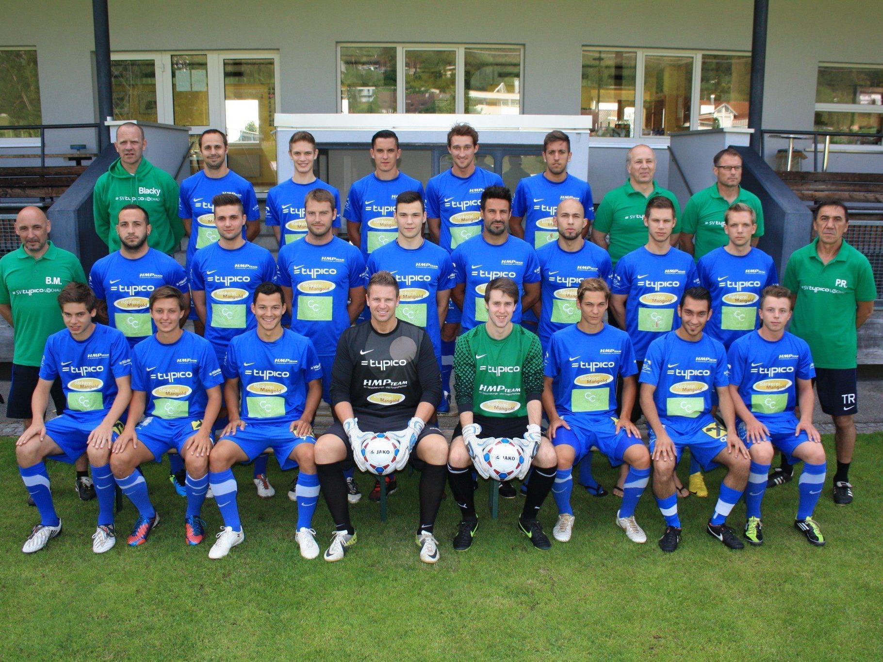 Die Kampfmannschaft des SV Typico Lochau spielt am Samstag gegen den FC Götzis.