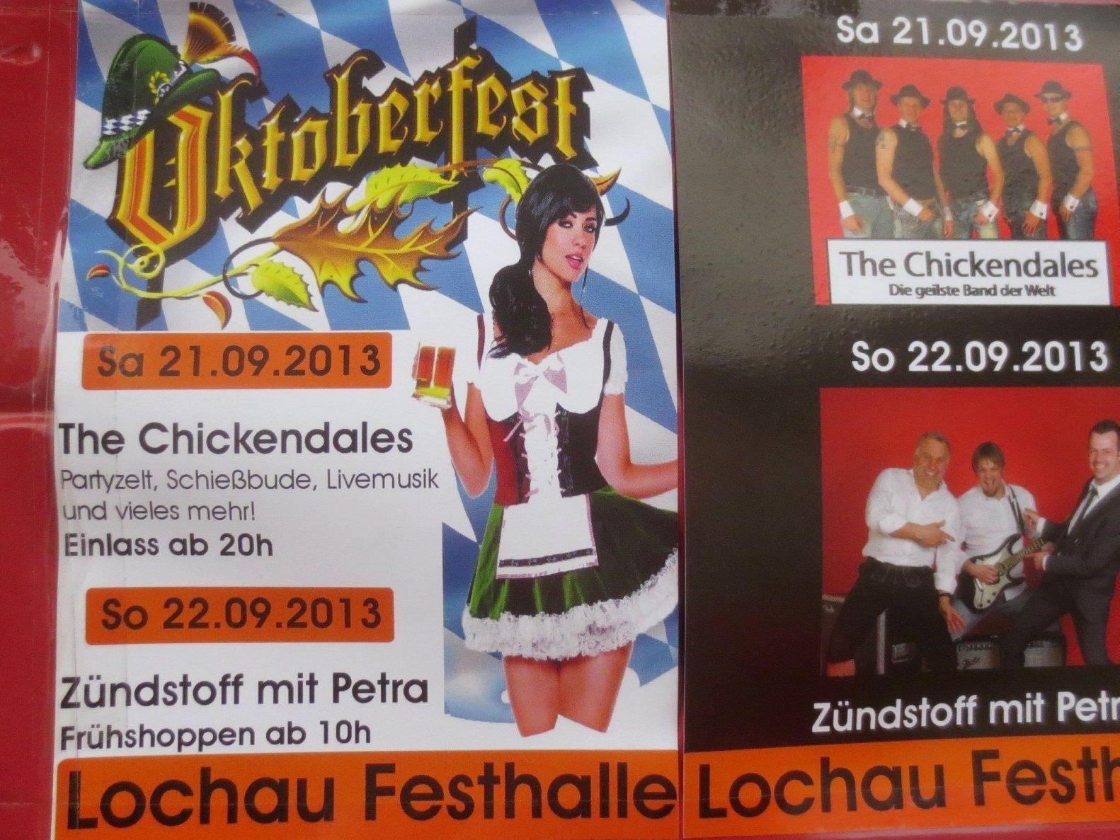 """Im Dirndl oder mit der Lederhosn geht es zum """"Oktoberfest"""" in Lochau."""