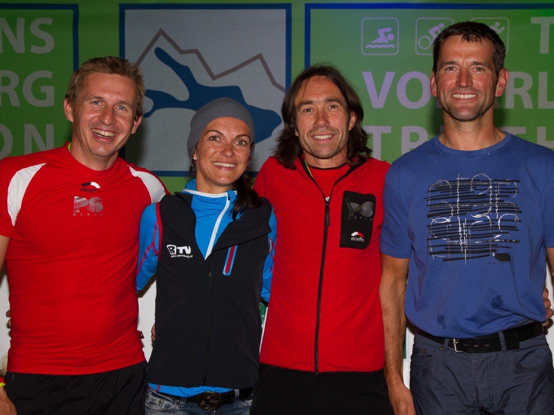 Im Bild: Martin Meusburger, Sandra Urrach, Hugo Comper und Martin Muxel