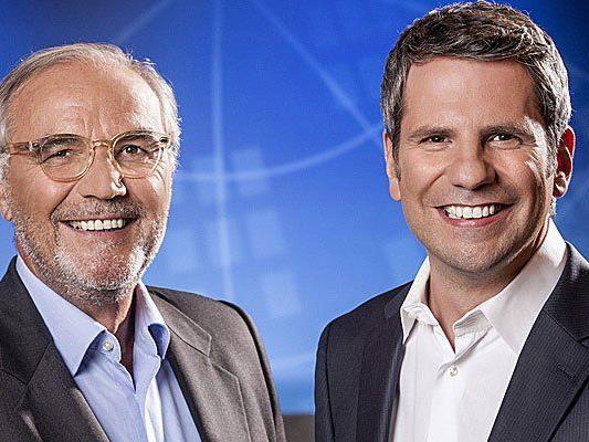 Peter Rabl und Thomas Mohr werden die Wahlarena am Sonntag moderieren.