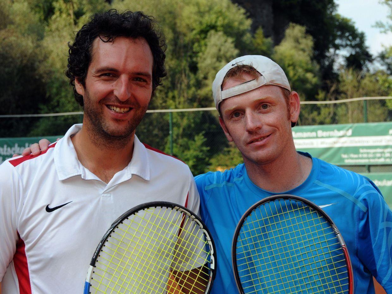 Die Finalisten Herren 35+ Marte Bernhard und Birnbaumer Christoph
