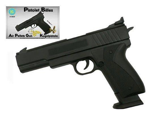Diese täuschend echt aussehende Pistole ist laut Verkäufer für Kinder ab drei Jahren bestimmt.