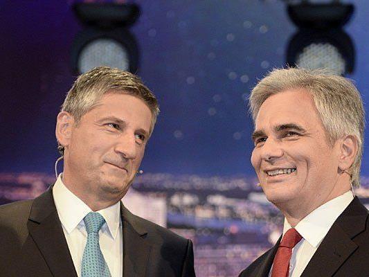 BK Werner Faymann (r./SPÖ) und VK Michael Spindelegger haben abgesagt